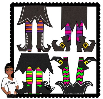 Clip Art~ Halloween Witches Feet.
