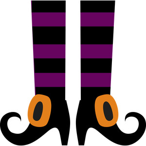 Witch Feet Clipart.