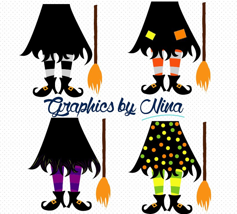 Witch Leg Clipart.