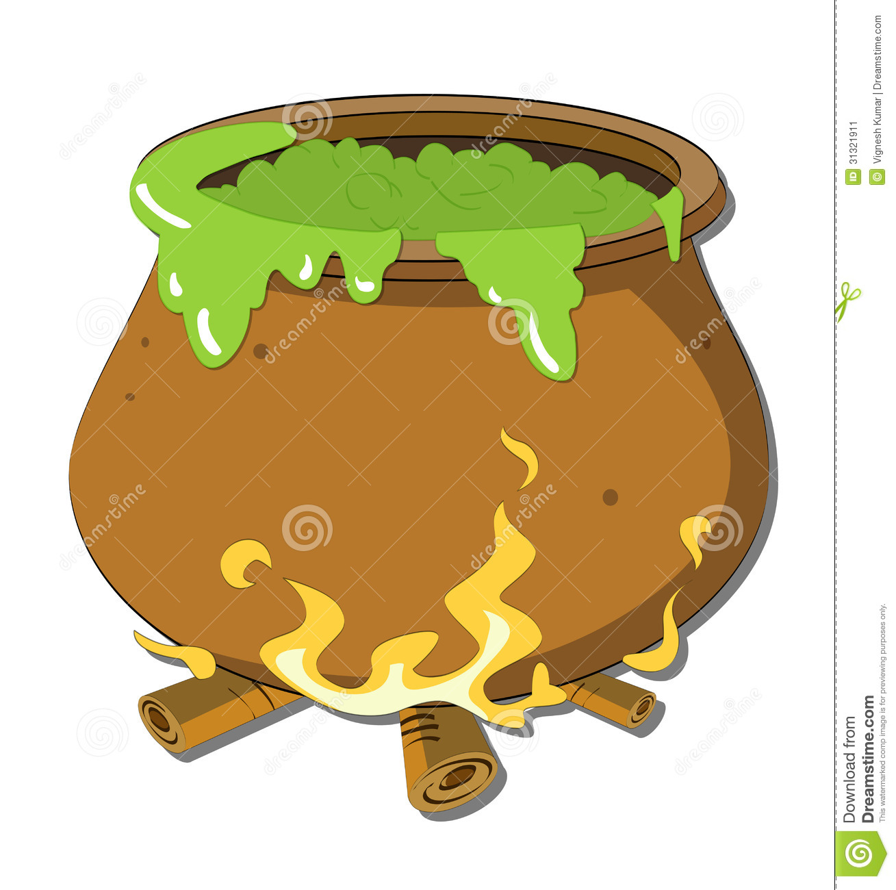 Witch's Cauldron Stock Image.