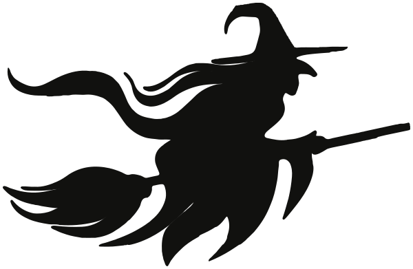 flying witch silhouette ….