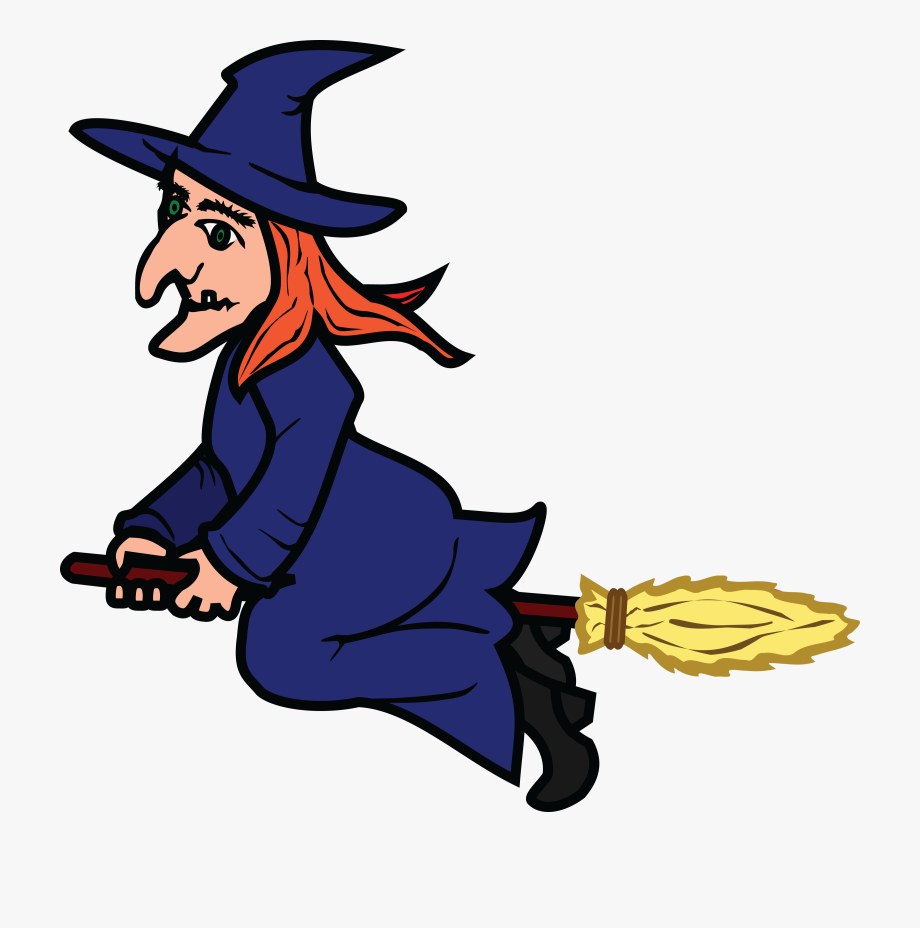 Free Clipart Of A Flying Witch.