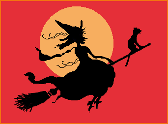 SkullBlossom: Free Web Graphics and Clipart: Witch Gal Rides.