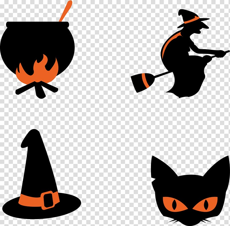 Scalable Graphics Witchcraft, witch transparent background.