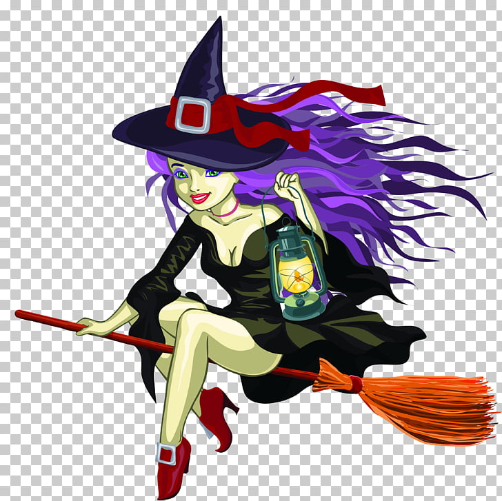 Witchcraft graphics, witch PNG clipart.