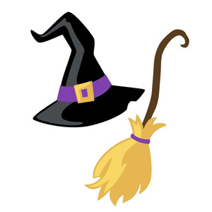 Broom clipart witch hat, Broom witch hat Transparent FREE.
