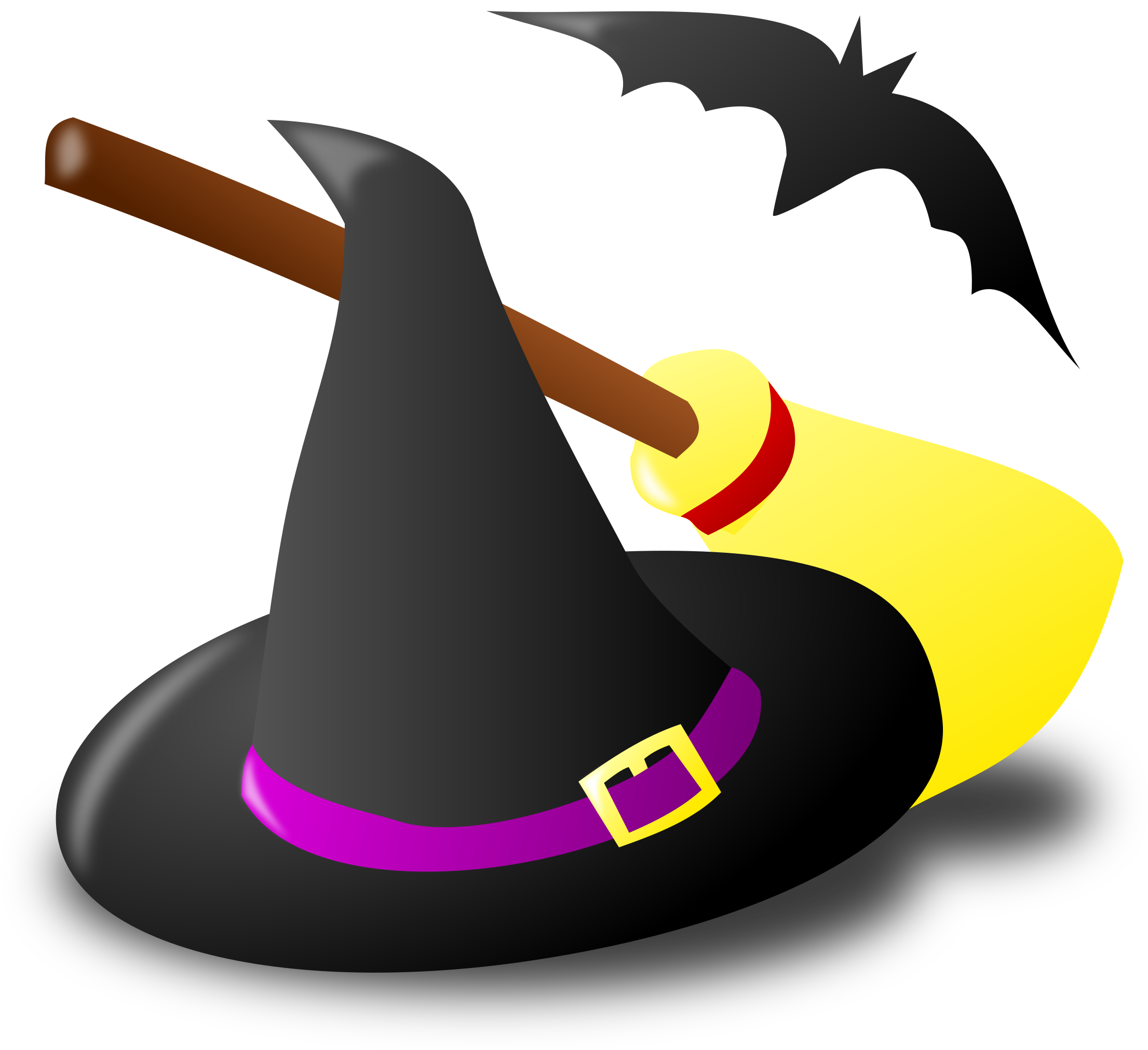 Halloween Witch Clip Art Image.