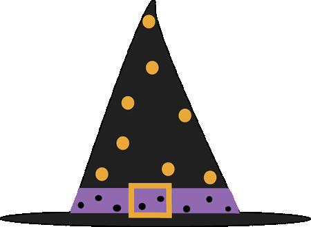 Polka Dot Witch Hat Clip Art.