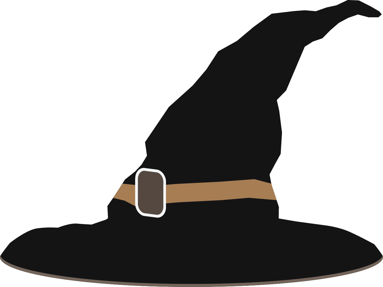Cute witch hat clipart.