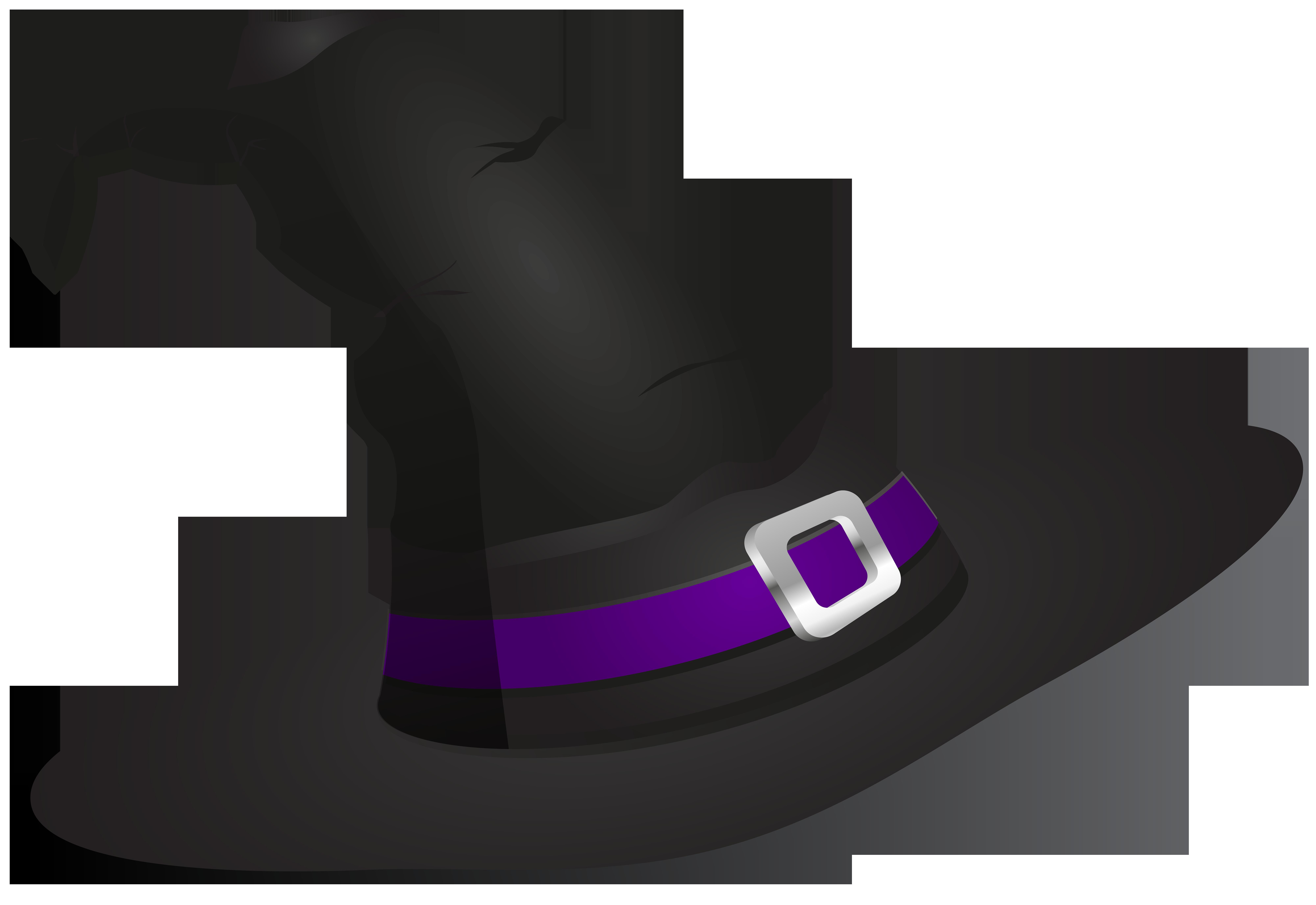 Witch Hat PNG Transparent Clip Art Image.