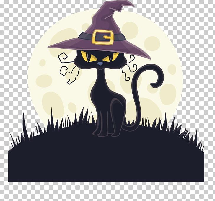 Cat Witch Hat Witch Hat PNG, Clipart, Art, Atmosphere, Black.