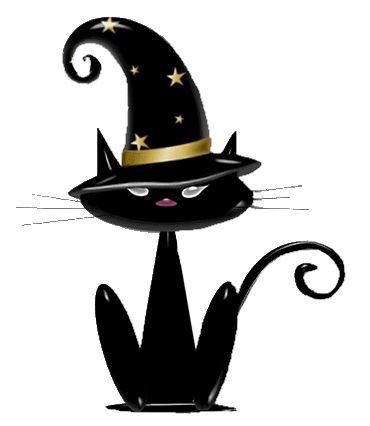 Witch Cat Clipart.