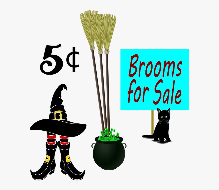 Brooms Witch Hat Cat Black Cat Halloween Broom.
