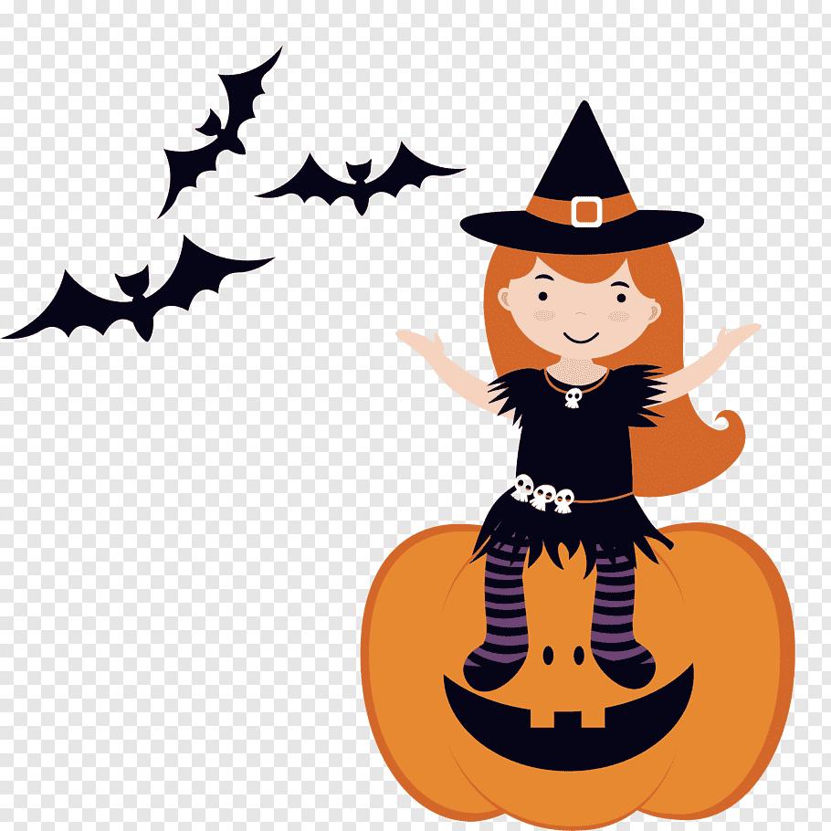 Halloween Black Cat, Witchcraft, Pumpkin, Jackolantern.