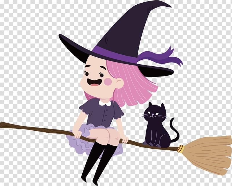 Boszorkxe1ny , Lovely little witch transparent background.