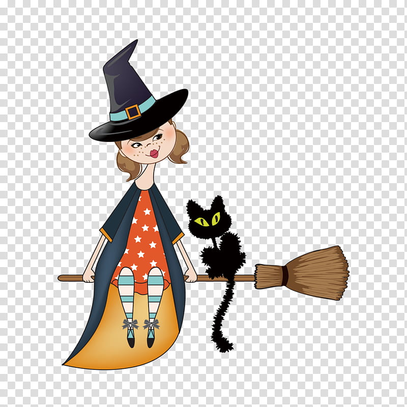 Halloween Cat Drawing, Halloween , Witchcraft, Witch Flying.