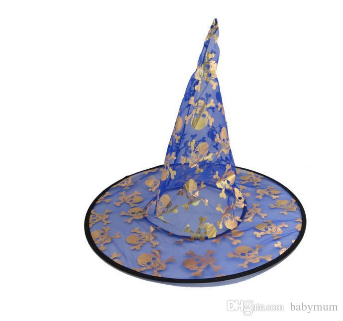 Halloween witch hat costume party girl hat Festival props Wizard cap  colorful kids women Pumpkin hat festival children caps.