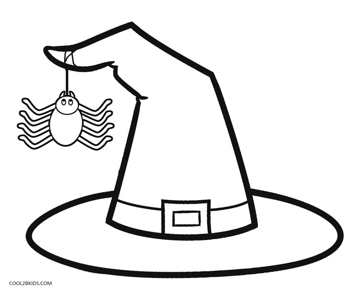 Halloween Witch Hat Clipart Black And White.
