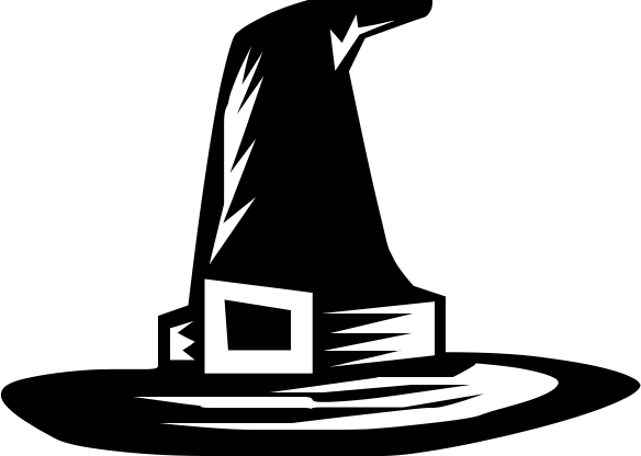 Free Witch Hat Clipart Black And White, Download Free Clip.