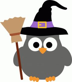 Owl Witch Clipart.