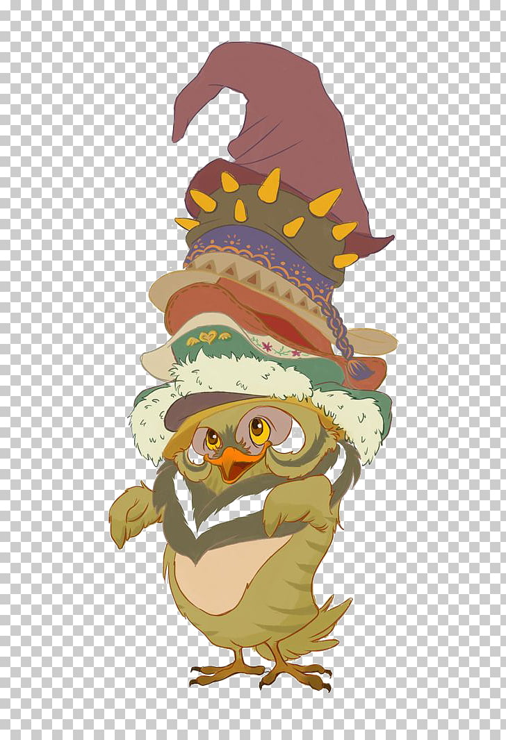 Owl Hat Illustration, Hat Owl PNG clipart.