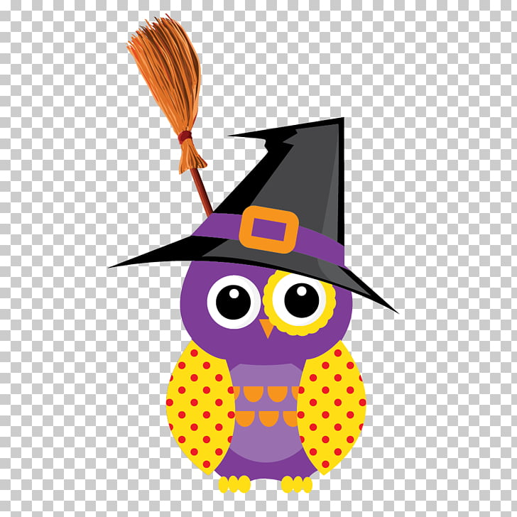 Owl Halloween, A hat owl PNG clipart.