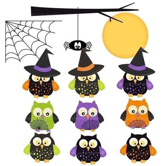 Halloween Owl Clipart.