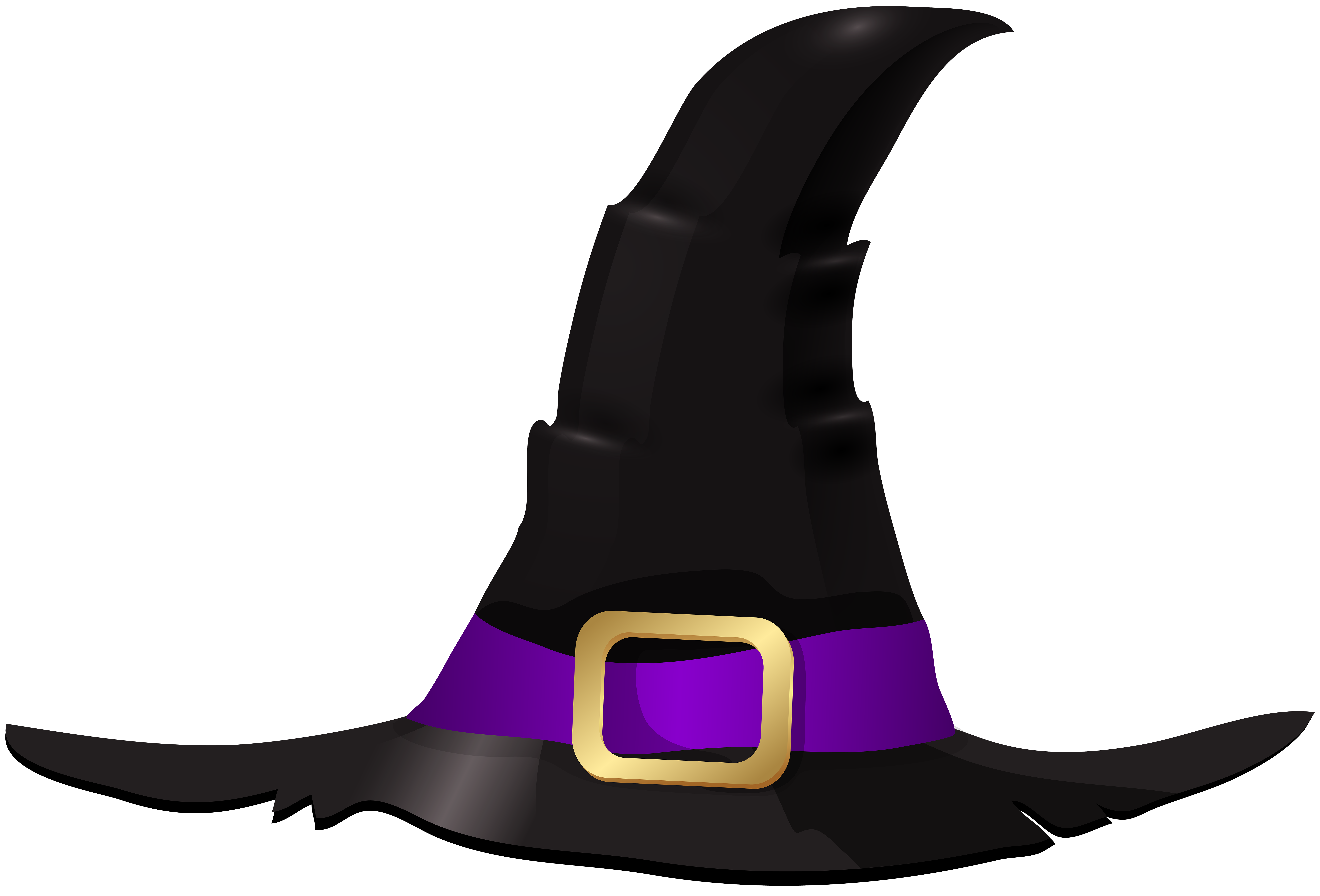 Halloween Witch Hat PNG Clip Art Image.