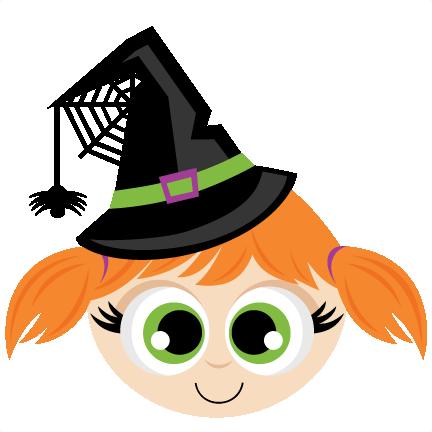 Witch Head SVG scrapbook cut file cute clipart files for silhouette.