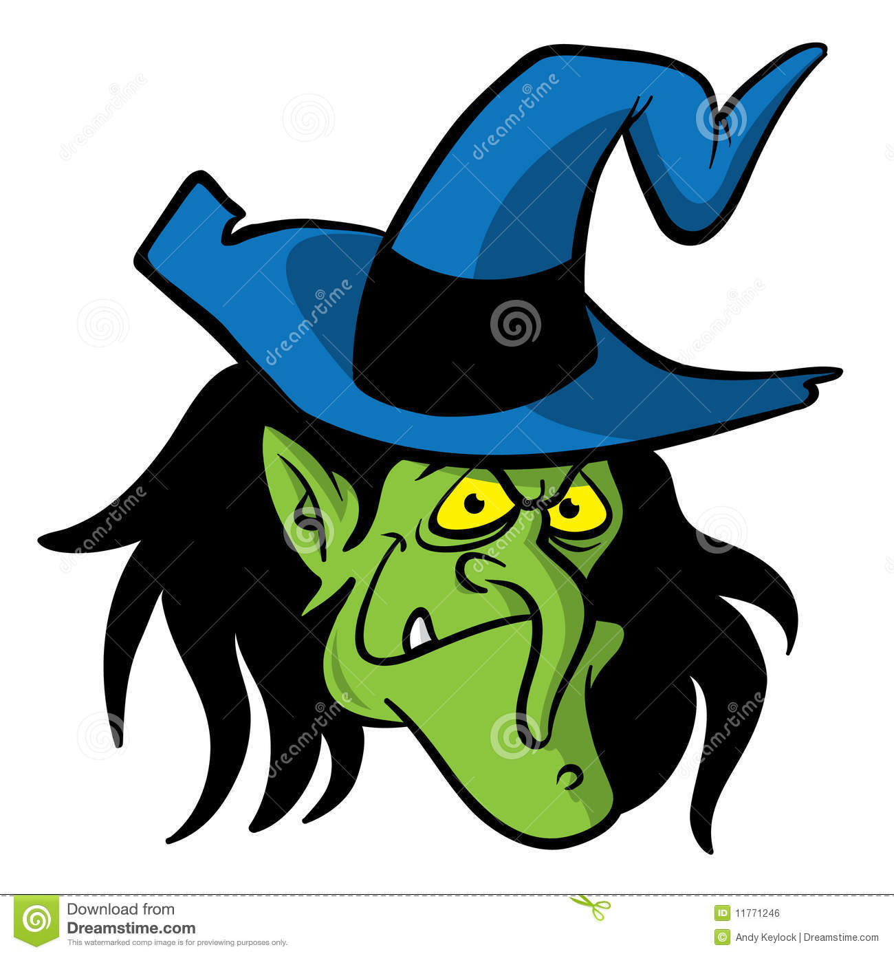 Witch Head Clipart.