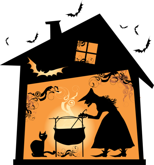 Witch House Clipart.