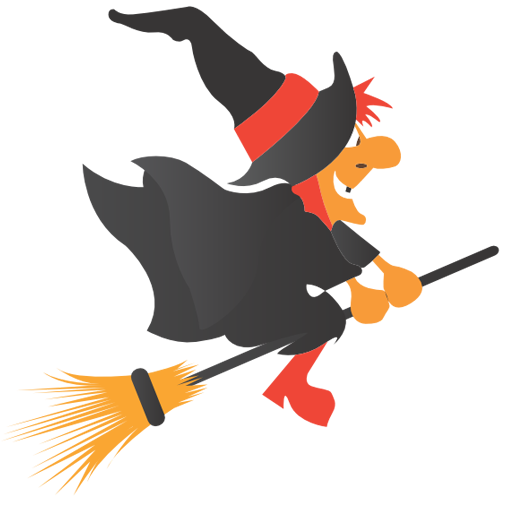 Broom, halloween, witch icon.
