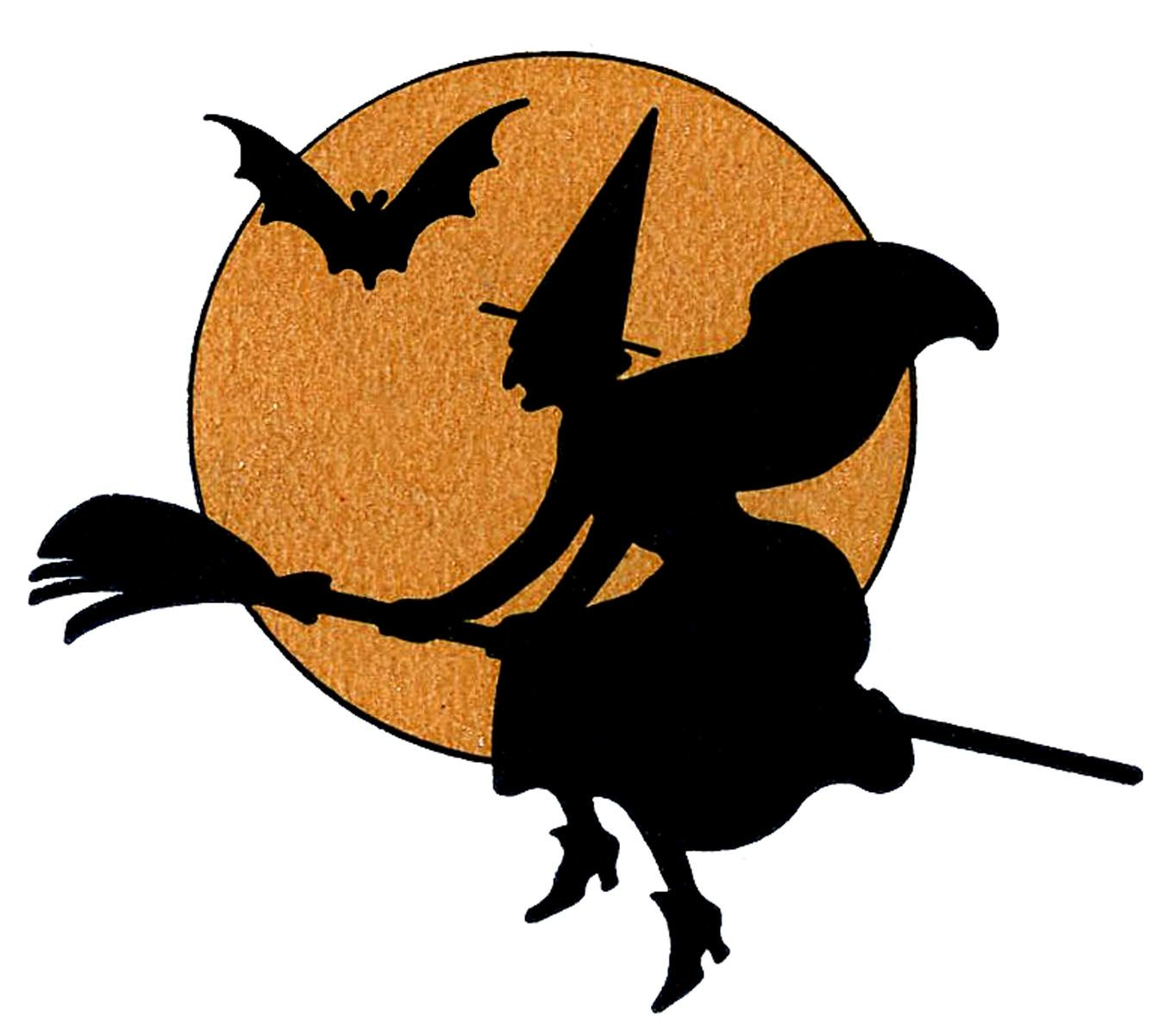 8 Halloween Witches Clipart.