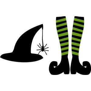 Silhouette Design Store: echo park witch legs & hat.
