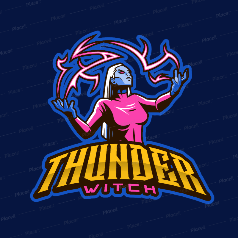 Storm Witch Logo Generator for Female Gamers 383x.