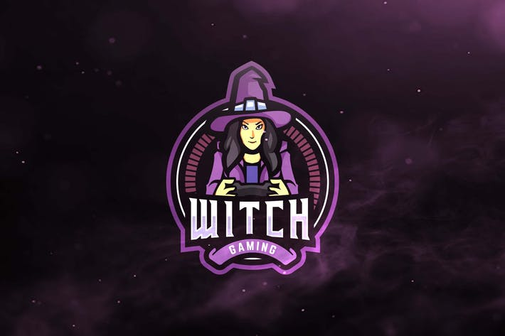 Witch Gaming Sport and Esports Logos by ovozdigital on Envato Elements.