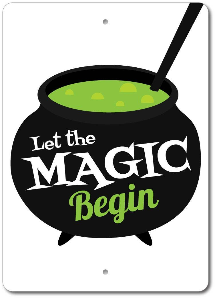 Cauldron Sign, Magic Sign, Cauldron Decor, Magic Decor.