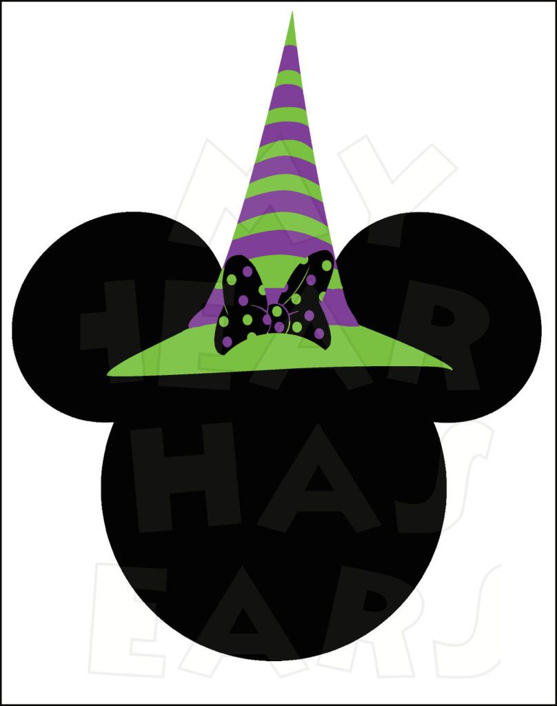 Minnie Mouse Witch INSTANT DOWNLOAD Halloween digital clip.