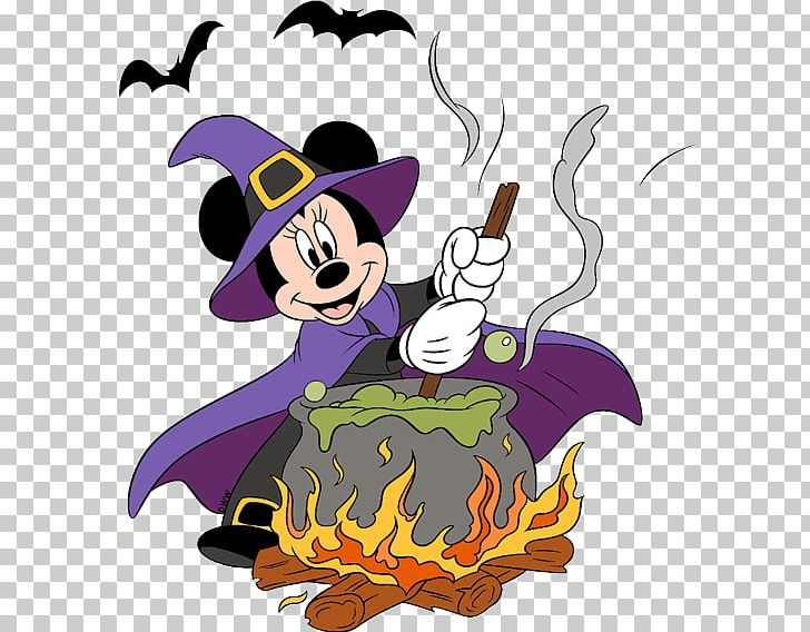 Minnie Mouse Mickey Mouse Witchcraft PNG, Clipart, Art.