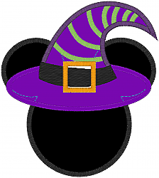 Halloween Minnie Mouse Witch Hat Shirt.