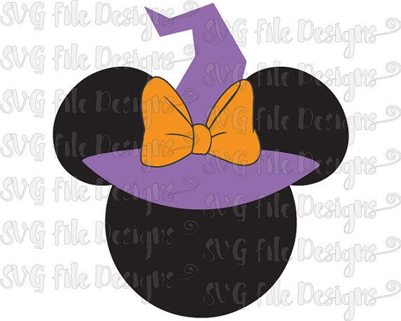 Halloween Minnie Mouse Witch Hat / Sorcerer / by.