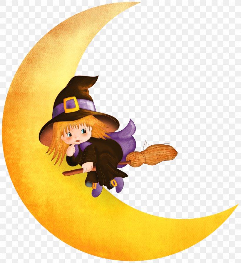 Halloween Witch Moon Clip Art, PNG, 2400x2617px, Halloween.