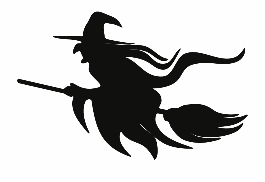 Clipart Black And White Download Clipart On Broomstick.