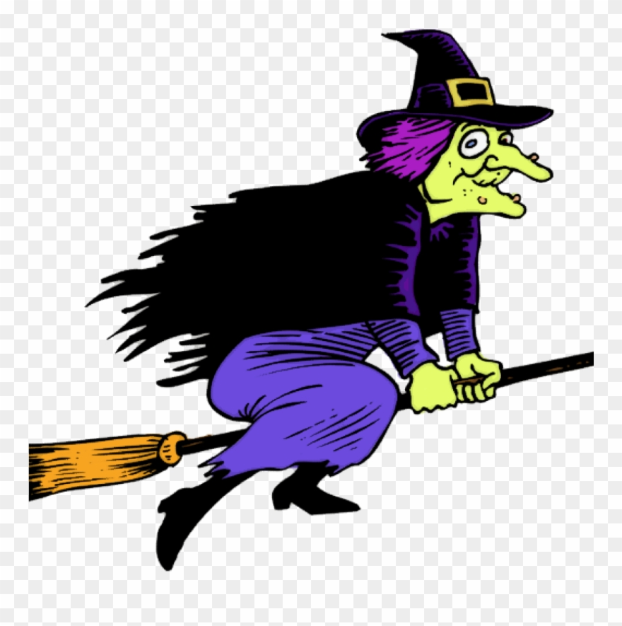 Witch On Broom Clipart This Cartoon Clip Art Of A Witch.