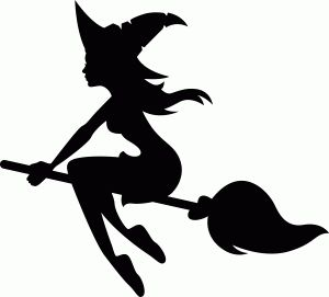 Witch On Broomstick Silhouette at GetDrawings.com.