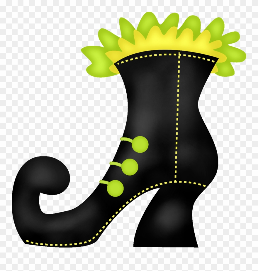 Witch Clipart Boot.