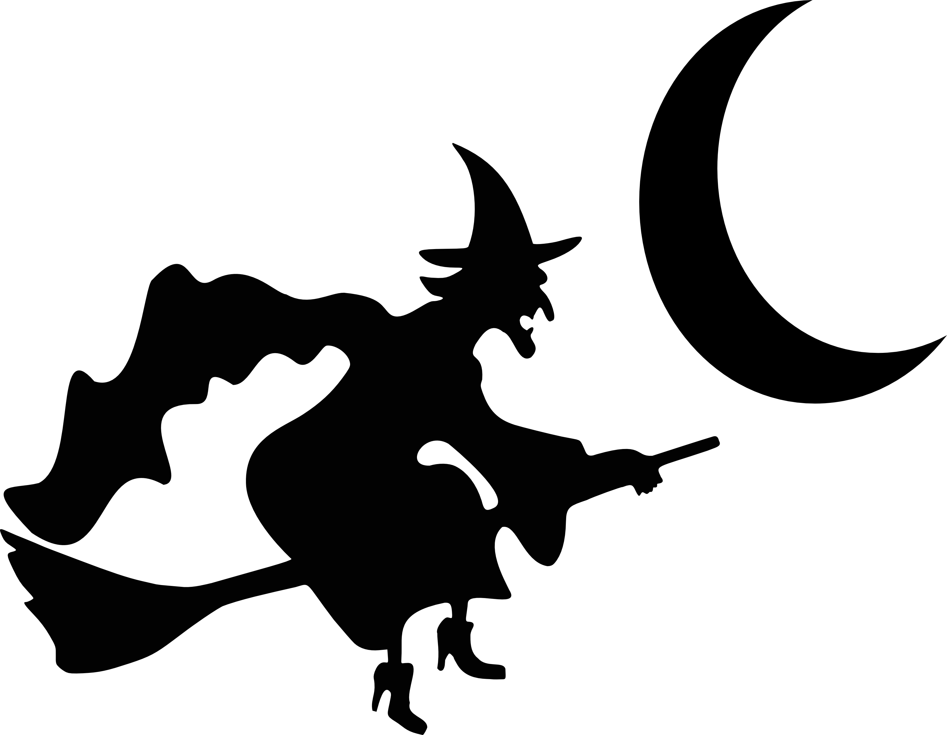 19 Halloween Silhouette Vector Images.