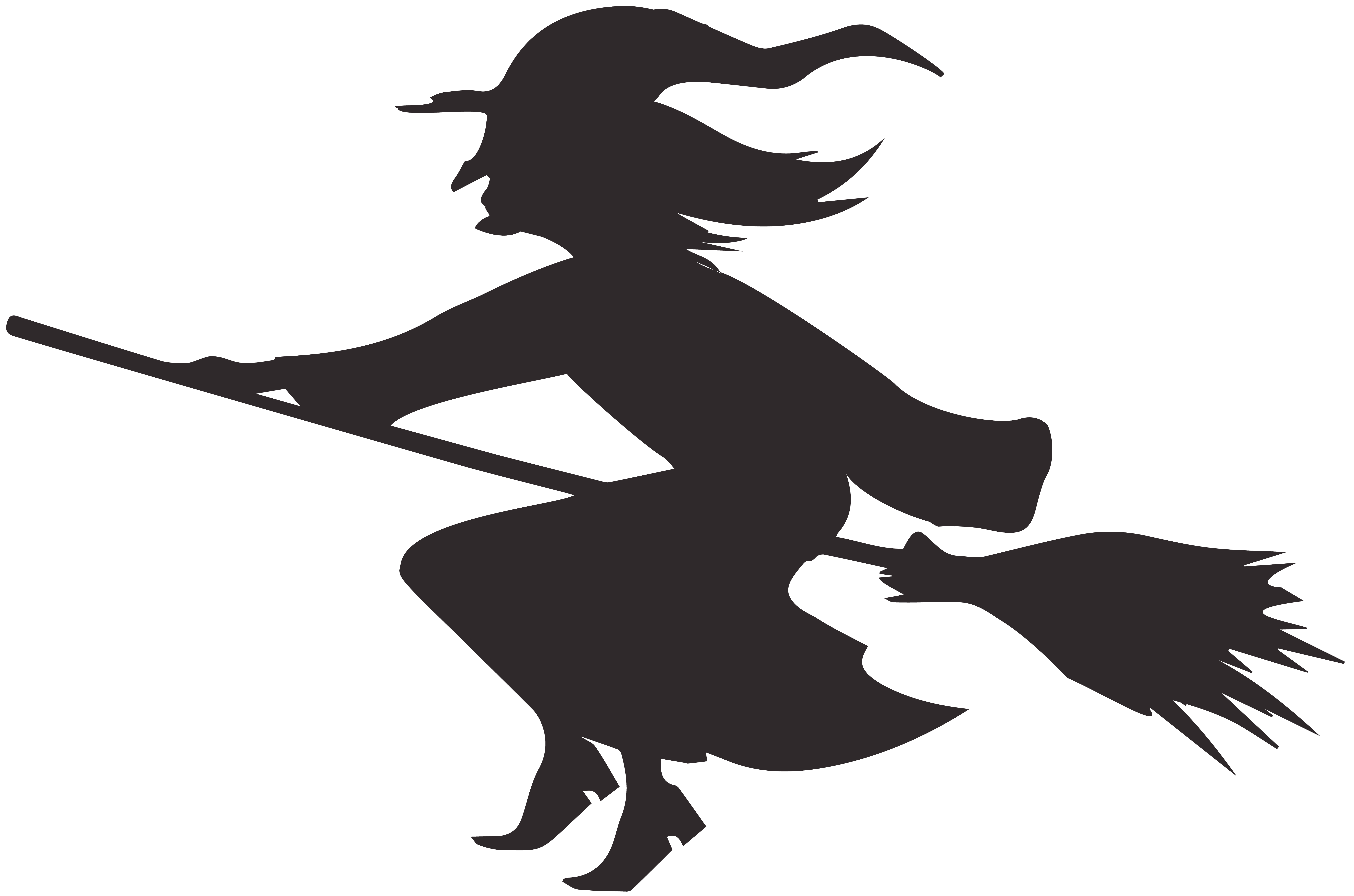 Halloween Witchcraft Silhouette Sewing.