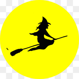 Flying Witch Silhouette PNG and Flying Witch Silhouette.