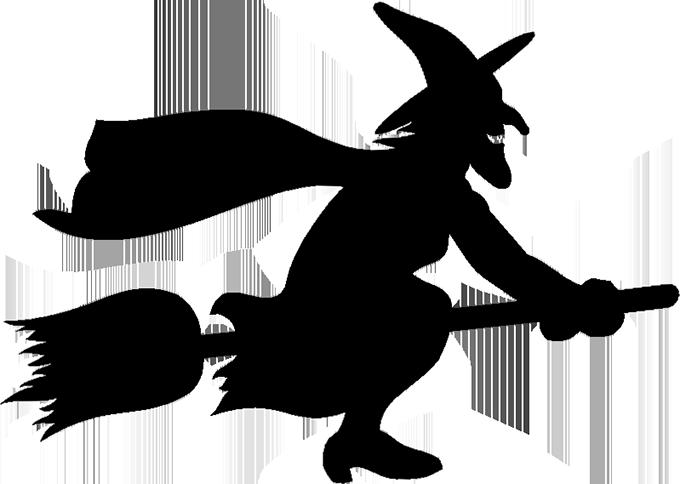 Witchcraft Silhouette Clip art.
